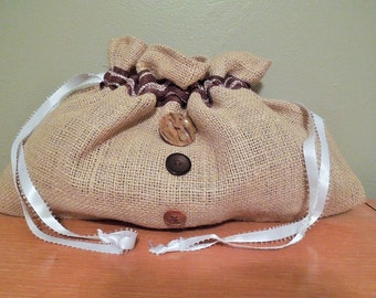 Hand Made Burlap Gift Bag