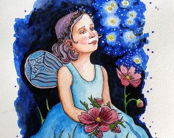 Fairy & Fireflies (Original)