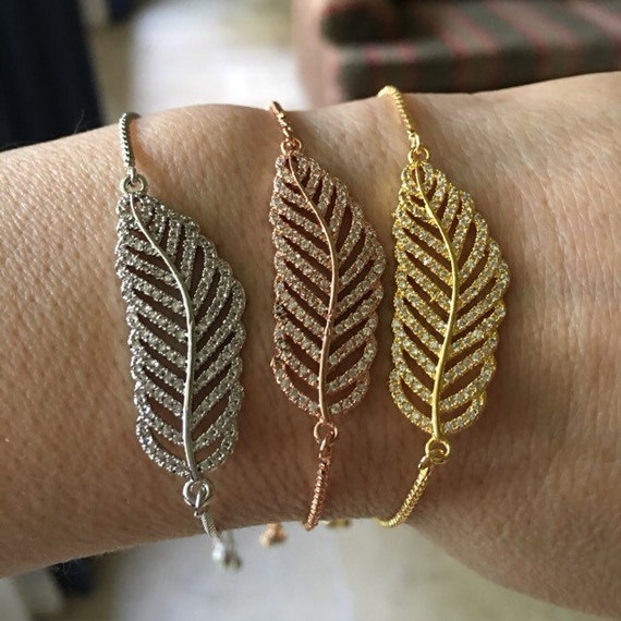 Leaf bracelets, leaves, leaf jewelry, feather jewelry,bridesmaids jewelry, Palm jewelry