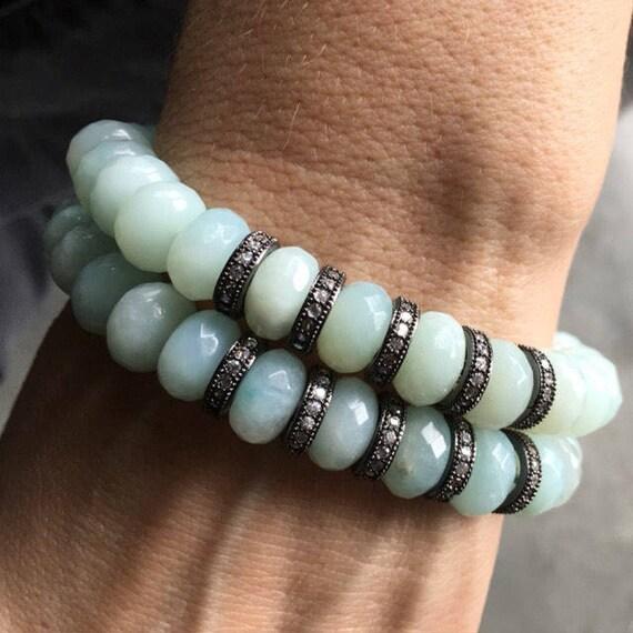 Amazonite bracelets, Stretch bracelets