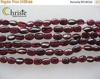 55% OFF Red garnet flat oval beads 9x6mm 6inch strand