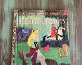 Sleeping Beauty Walt Disney's Little Golden Book Vintage 25 cents 1957 #D61