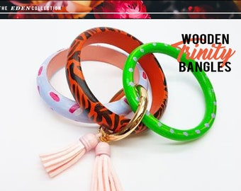 Hand Painted Trinity Bangle - 'Tiger'