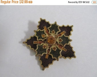 On Sale Made in West Germany Holy star pin / brooch with rhinestones #230