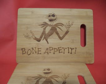 Jack Skellington Etched Bamboo Cutting Boards / Set of TWO!
