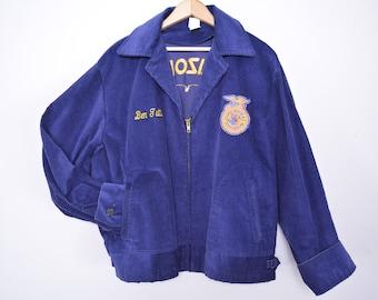 Vintage 1970s FFA Jacket Future Farmers of America Size Large Arizona Buckeye