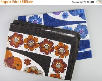 ON SALE Vintage Place Mats, vintage linens, Unused linens, Mid Century tableware, 1960s floral print