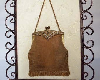 Vintage Mesh purse 1920s 1930s antique
