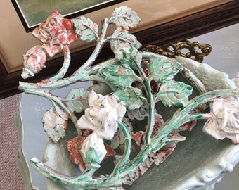 Flower Metal salvage Decorative Metal, painted metal
