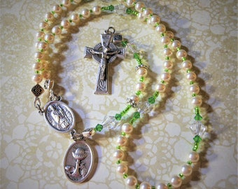 Girls First Communion Rosary-Celtic Girl Rosary-Irish Saints Traditional Five Decade Rosary-Sold by Lily of Peace on Etsy