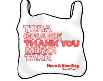 NYC Plastic Sack (Bag) Thank you Card