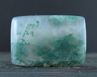 SALE  Green moss agate cabochon  B6443