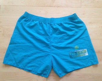 Vintage Beach Volleyball Neon Shorts- Men's Large