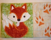 Quilted Mug Rug - Woodland Fox