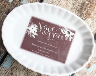 Personalized Ring Dish, Engagement Ring Dish, Momogram Ring Dish, Wedding gifts for couple, Wedding gift for bridesmaid, memorial, jewelry