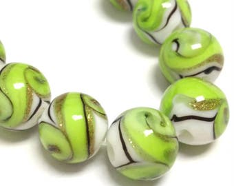 8pc 12mm handmade round lampwork glass beads-OFF171