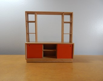 1/12 Scale Miniature Modern Cabinet / Room Divider/Entertainment Center