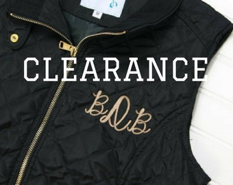 Monogram Vest for Women - Gift for Her - Ladies Black Quilted Vest - Monogrammed Gift for Mom - College Student Gift - Personalized Gift