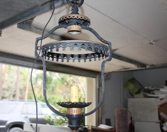 vintage cast iron hanging lantern lampblack metal hanging lightshabby black chandelier