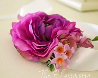 Bridal corsage / Wrist flower corsage / Corsage wristlet / Wedding corsage / Prom corsage / Flower corsage / Flower bracelet / Corsage