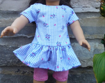 18 Inch doll 2 piece Yoga pants and matching tunic top by Project Funway on Etsy