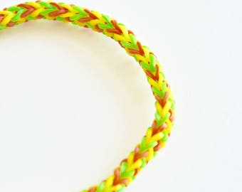 Yellow Red Green Rubberband Bracelet