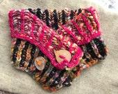Cowl scarf woman Grey scarflette Woman neckwarmer Button scarf Short scarf Cowl neck scarf Scarf neckwarmer Woman gift Knit neckwarmer