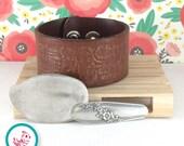Custom Leather Chick Cuff Bracelet