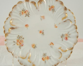 Vintage Limoges China France L S & S Dessert Plate Bread Butter Plate 1900s  Chippy Shabby Cottage Chic Vintage Wedding