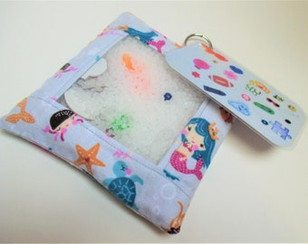 Mermaid busy bag, sensory toy, quiet activity