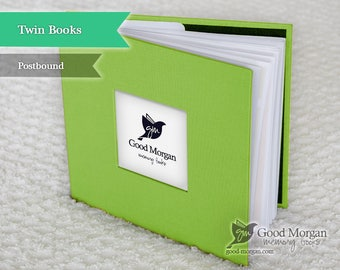 Twins Baby Memory Book - Citrus Green