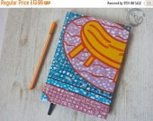 BLACK FRIDAY OFFER 2017 planner diary calendar agenda A5 weekly Unique Bespoke Customised hardback cover African wax print - blue orange pin