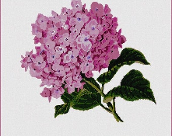 Needlepoint Kit or Canvas: Hydrangea Pair