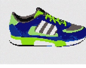 Needlepoint Kit or Canvas: Sneaker