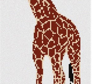 Needlepoint Kit or Canvas: Giraffe