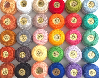 The Ultimate Pearl Cotton Thead Collection - 30 Color Finca Perle Cotton Thread Set
