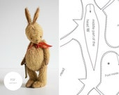 PDF Sewing Pattern & Tutorial Mohair Rabbit 8 Inches Easter Bunny Stuffed Animal Pattern Plush Pattern Artist Teddy Bear Pattern For Women