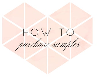 WELCOME GUIDE #01 - How to purchase samples