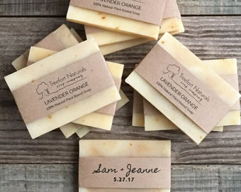 Handmade Custom Soap Favors, Wedding favors, baby shower favors, All Natural soap, Organic, large guest size bars, Made to Order