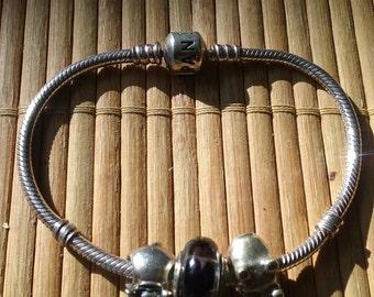 Pandora sterling silver bracelet genuine