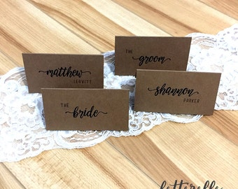 Simple Kraft Place Cards