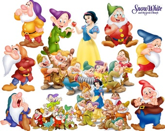 BEST collection of 150 Disney's Snow White Clipart - 150 high quality SNOW WHITE clipart - 150 Snow White Graphics !!!