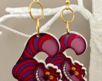 Alice in Wonderland Cheshire Cat Earrings