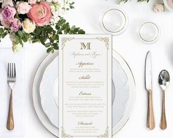 Wedding Menus, Wedding Menu, Dinner Menu, Dinner Menus, Gold Menu, Gold Menus, Gold Wedding Menu, Blush Menu, Blush Menus, Elegant Menu