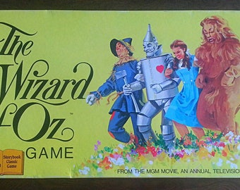 Vintage 1974 The Wizard of Oz Board Game * COMPLETE *
