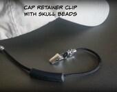 SKULLS!! Cap Retainer Clip -Black 325 Paracord.