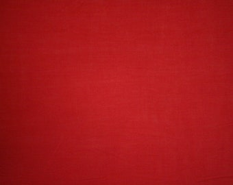 "Red Cotton Lawn Fabric 58""/59"" Wide Per Yard"