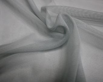 "Light Gray Stretch Mesh Fabric 58"" Wide Per Yard"