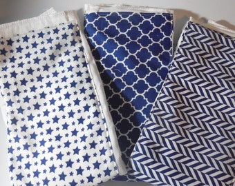 Blue Set of Burp Cloths