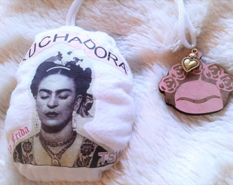 FRIDA KAHLO I Paint my own reality Double Sided Scented Car Rear View Mirror Plushie Car Air Freshner Christmas Ornament